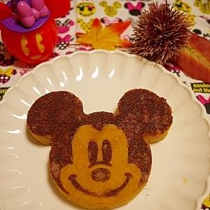 チョコ風味カカオシュガーかぼちゃマッシュのミッキー