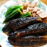 茄子とオクラと豚肉の煮物