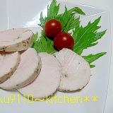 塩麹 de 鶏むね肉のクルクル鶏ハム