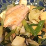 鮭と厚揚げのちゃんちゃん焼き