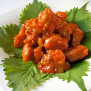 中華風おせちに♪サイコロ豚のチリソース炒め