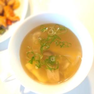 簡単 玉ねぎとしめじの卵スープ