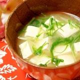 *豆腐と水菜のお味噌汁*