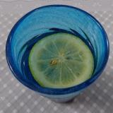 梅シロップのレモン炭酸割り