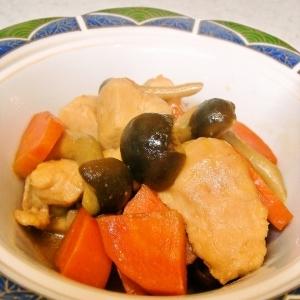 鶏胸肉とにんじんの煮物~筑前煮風~♪