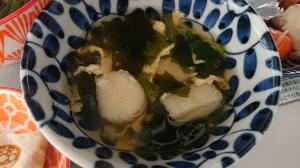 お麩とたまごの中華風スープ