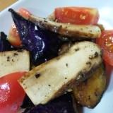 松茸と茄子の秋の前菜