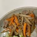 デパ地下風!お弁当や小鉢に!豚肉入り簡単きんぴら