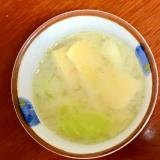 キャベツと油揚げの簡単味噌汁