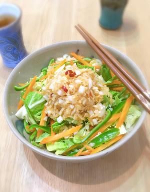 食物繊維たっぷり♡切り干し大根とキャベツのサラダ♪
