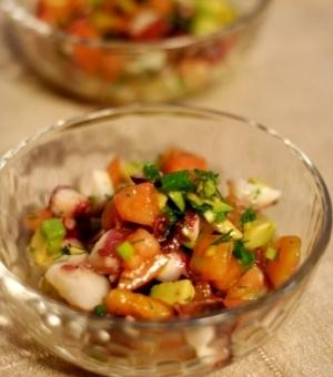 茹でダコと野菜のハーブサラダ