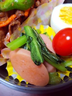 ★お弁当にも♪小松菜と魚肉ソーセージ炒め★