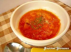 """水を使わない""""トマトとツナのスープ"""""""