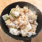 筍・あさり・タラの芽の炊き込みご飯