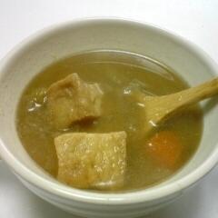 野菜と厚揚げの味噌スープ