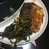 鯖のピリ辛焼き