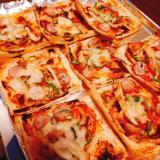 糖質オフ♪油揚げのピザ