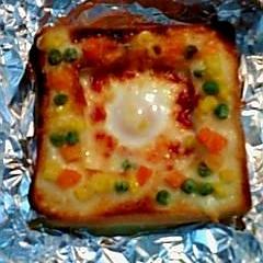ボリューム満点エッグトースト