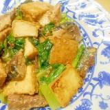サバ缶と厚揚げ・小松菜のさっと煮