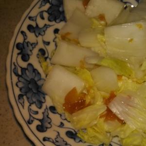 白菜の梅蒸し レンジで