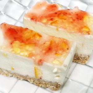 【パーティー】苺とママレードのWレアチーズケーキ