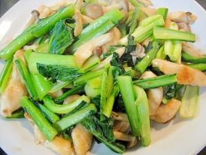 小松菜と鶏むね肉の中華炒め
