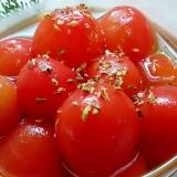 プチトマトのバジル出汁浸し
