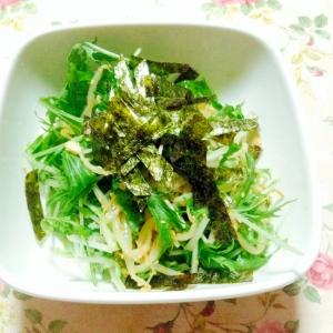 キムチもやしと水菜の和え物