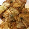 豚肉とキャベツの味噌炒め(^-^)キャベツ大量消費