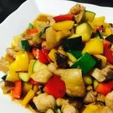 翌日も美味しい!角切り夏野菜の彩り中華風炒め
