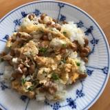 スプラウトとツナの納豆チャーハン