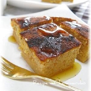 炊飯器でヘルシーきな粉ケーキ