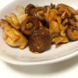 鶏肉と椎茸の甘辛炒め