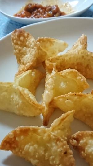 ジャガイモとチーズの餃子の皮サモサ