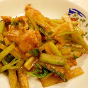 セロリと鶏肉の味噌炒め