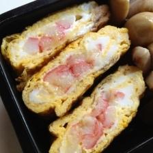 お弁当に☆カニカマ入り卵焼き