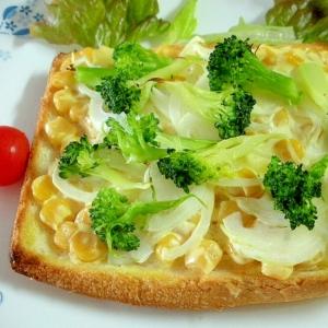 ☆ブロッコリーとコーンのマヨチーズトースト☆