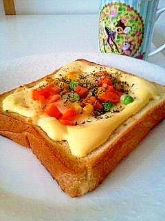 マヨ*ベジ*チーズ*トースト