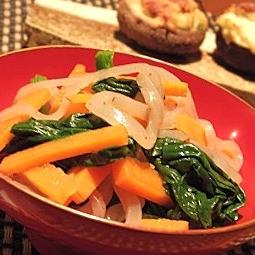 コンニャクと野菜のポン酢和え