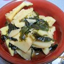 旬の味 若竹とわかめの煮物
