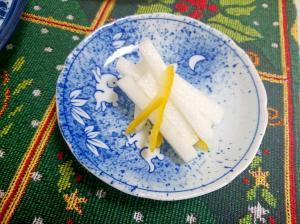 冬至の日~柚子だいこん