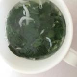 【離乳食後期】しらすと小松菜のスープ