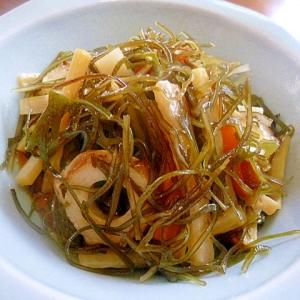 大根の皮と刻み昆布の炒め煮