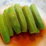 レンジで簡単 ❤オクラの麺つゆ浸し❤