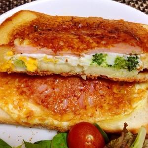 パサパサ食パン救済!フライパンでハムチーズトースト