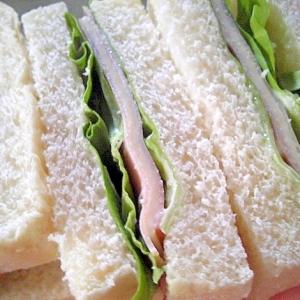 ハムとチーズとサラダ菜のシンプルサンド