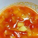 生トマトで☆トマトとじゃがいものスープ