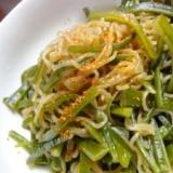ダイエットに★簡単茎わかめと糸こんにゃくの炒め煮