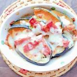 南瓜と米茄子のマヨチーズグラタン