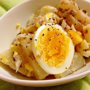 オイルサーディンのポテトと卵のサラダ